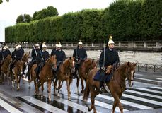 The French Republican Guard Stock Photos