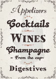 French Restaurant Alcohols And Beverage Background Royalty Free Stock Image