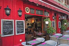 French restaurant, Annecy Royalty Free Stock Photography