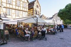 French restaurant in Colmar, Alsace, France Royalty Free Stock Photography