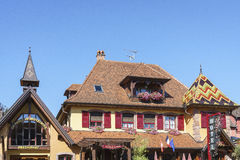 French restaurant and hotel in Alsace, France Royalty Free Stock Images