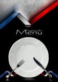 French Restaurant Menu Design Royalty Free Stock Image