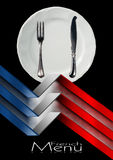 French Restaurant Menu Design Stock Image