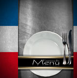 French Restaurant Menu Design Stock Image