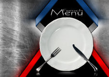 French Restaurant Menu Design Stock Photography
