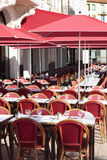French restaurant provence south of france, sidewalk cafe Royalty Free Stock Photo