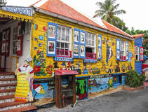 French Restaurant in St. Maarten Royalty Free Stock Image