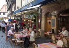 French restaurant in Strasbourg royalty free stock photo