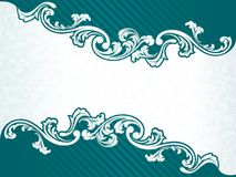 French retro banner in green Stock Photos