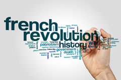 French revolution word cloud Royalty Free Stock Image