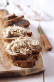 French rillettes, meat spread stock images