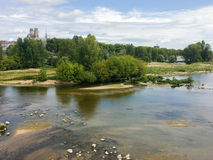 French river Loire. In summer near Orleans Stock Images