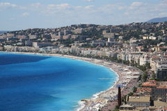French riveria at Nice France Stock Photography