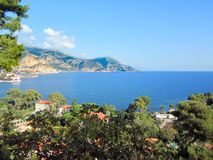 French Riveria overlooking over Cap Ferrat royalty free stock photos