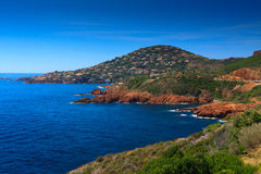 French Riviera. Small bay near to Cannes; French Riviera Royalty Free Stock Photos