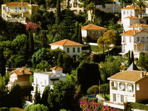 French riviera. Houses villefranche sur mer alpes maritime french riviera cote d'azur provence franmce europe Royalty Free Stock Image