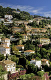 French riviera. Houses villefranche sur mer alpes maritime french riviera cote d'azur provence france europe Royalty Free Stock Photo