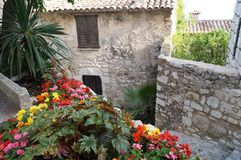 French Riviera. Village of Eze, located in French Riviera between Nice and Monaco Stock Image