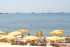 French riviera. Very nice view in the french riviera beach Stock Photos