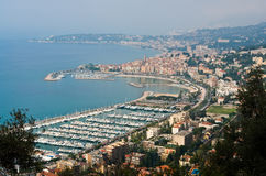 French riviera. A small town in the French riviera Stock Photo