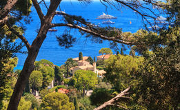 French Riviera. Aerial view of Cap Ferrat, French Riviera Stock Photography