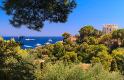 French Riviera. Aerial view of Cap Ferrat, French Riviera Stock Images