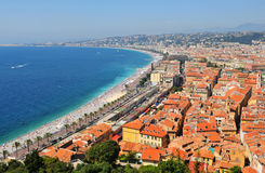 French Riviera. Aerial view of French Riviera in Nice, France Stock Photos