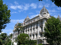 French Riviera architecture. This is the photo of beautiful building in Nice, French Riviera Stock Image
