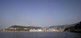 French Riviera: Bay of Villefranche-sur-mer Stock Photo