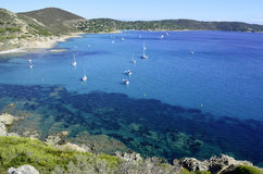 French riviera beaches, near to Saint-tropez Royalty Free Stock Images