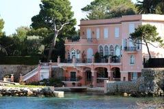 Nice French riviera, Côte d`Azur, mediterranean coast, Eze, Saint-Tropez, Cannes and Monaco. Blue water and luxury yachts. French riviera, Côte d`Azur Stock Images