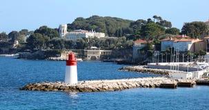 Nice French riviera, Côte d`Azur, mediterranean coast, Eze, Saint-Tropez, Cannes and Monaco. Blue water and luxury yachts. French riviera, Côte d`Azur Stock Photos