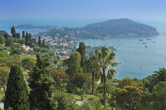 French Riviera coast. Beautiful view on the coast of French Riviera near Nice Stock Image