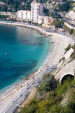French riviera coastline. Coastline in french riviera with azure blue water Royalty Free Stock Photos