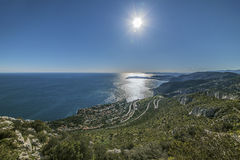 French Riviera coastline Royalty Free Stock Photo