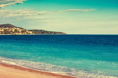 French Riviera. Cote d`Azur. French Riviera, Nice, France Royalty Free Stock Photo