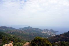 French riviera Cote d`azur mountains Royalty Free Stock Photo