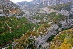 Verdon Gorge canyon in France Stock Photos