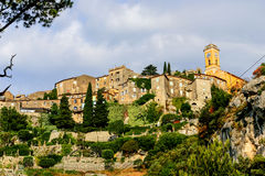 French Riviera Eze sure Mer town at morning light Stock Image