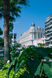 French Riviera - Famous places. French Riviera : Carlton resort hotel in Cannes Stock Image