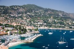 French Riviera lagoon Royalty Free Stock Image