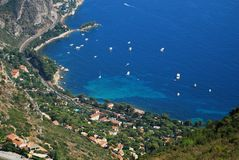 French Riviera landscape Royalty Free Stock Images