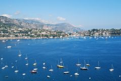 French Riviera landscape Royalty Free Stock Photo