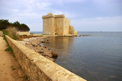 French Riviera, the Lerins Islands : fortified monastery of abbe Royalty Free Stock Image
