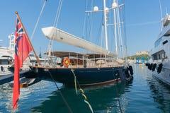 French Riviera luxury boats in  marina Stock Photos