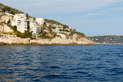French Riviera Mediterranean coastline Royalty Free Stock Photos