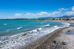 View of French Riviera. French Riviera, the Mediterranean coastline of the southeast corner of France Stock Image