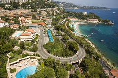 French Riviera by Monaco Royalty Free Stock Photography