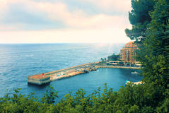 French riviera. Monaco. Monte Carlo. harbour Royalty Free Stock Photo