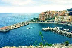 French riviera. Monaco. Monte Carlo. harbour Stock Photos